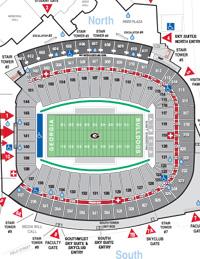 Sanford Stadium Map
